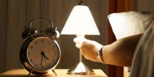 Turning on lamp