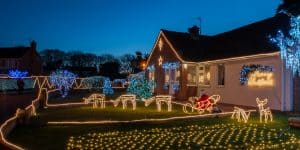 Easy install Christmas lights with eave outlets